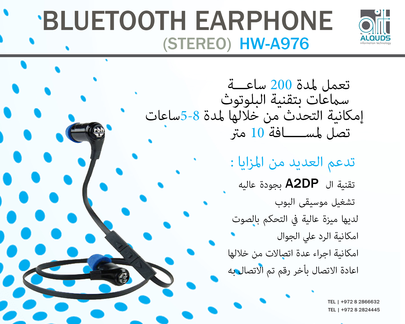 BLUETOOTH EARPHONE   HW-A976